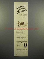 1937 Dole Pineapple Juice Ad - Serenade in the Sunlight