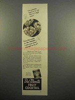 1938 Del Monte Fruit Cocktail Ad - A Real Treat!