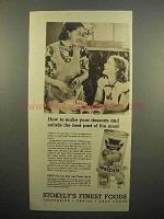 1938 Stokely's Apricots Ad - Desserts and Salads