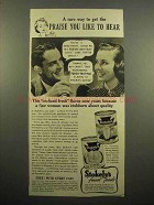 1939 Stokely's Grapefruit, Grapefruit Juice Ad - Praise