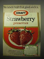 1969 Kraft Strawberry Preserves Ad - Fresh-Fruit Good!