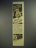1937 Sperry Pancake and Waffle Flour Ad - Dripcut Syrup Server
