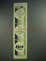 1938 Karo Syrup Ad - More Than Delicious Table Syrup
