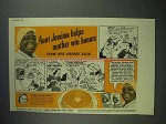1940 Aunt Jemima Pancake Mix Ad - Helps Win Honors