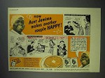 1940 Aunt Jemima Pancake Mix Ad - Makes Couple Happy