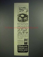 1941 Pillsbury Pancake and Waffle Flour Ad - Sit Up