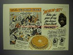 1942 Aunt Jemima Pancake Mix Ad - The Pancake Supper