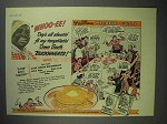 1942 Aunt Jemima Pancake Mix Ad - Weekend Guests