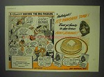 1942 Aunt Jemima Pancake Mix Ad - Before Big Parade