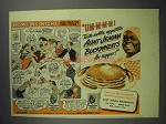 1943 Aunt Jemima Pancake Mix Ad - Bowling Night