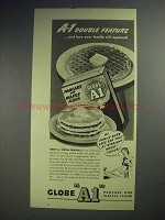 1944 Globe A1 Pancake and Waffle Flour Ad - Feature