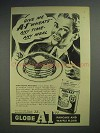 1944 Globe A1 Pancake and Waffle Flour Ad - Any Time