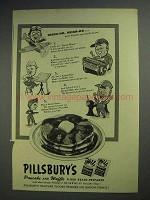 1944 Pillsbury Pancake and Waffle Flour Ad - Heigh-Ho