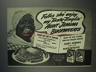 1945 Aunt Jemima Pancake Mix Ad - Folks Sho' Enjoy