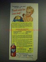 1950 Karo Syrup Ad - Three-way Cooky Dough - Karo Kid