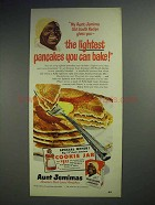1951 Aunt Jemima Pancake Mix Ad - Lightest You Can Bake
