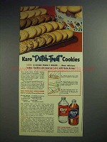 1951 Karo Syrup Ad - Dutch-Treat Cookies