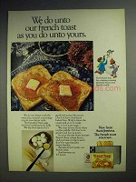 1972 Aunt Jemima French Toast Ad - Do Unto Yours