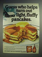 1978 Log Cabin Syrup Ad - Light, Fluffy Pancakes
