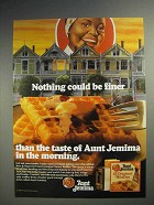 1986 Aunt Jemima Waffles Ad - Nothing Could be Finer