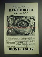 1933 Heinz Beef Broth Soup Ad - Most Delicious