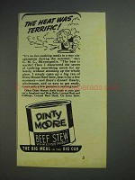 1939 Dinty Moore Beef Stew Ad - Heat Was Terrific
