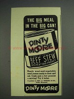 1939 Dinty Moore Beef Stew Ad - Big Meal in Big Can