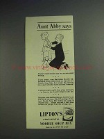 1942 Lipton's Continental Noodle Soup Mix Advertisement!