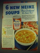 1942 Heinz Vegetable Soup Ad - Condensed to Save Tin!