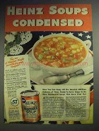 1943 Heinz Condensed Vegetable Soup Ad!