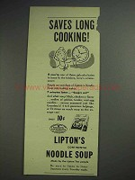 1945 Lipton's Continental Noodle Soup Ad - Saves