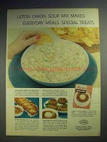 1959 Lipton Onion Soup Mix Ad - Makes Special Treats