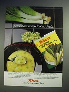 1986 Knorr Leek Soup and Recipe Mix Ad - Savor