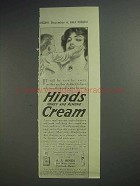 1913 Hinds Cream Ad - Soft, Smooth Skin
