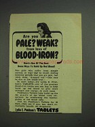 1946 Lydia E. Pinkham's Tablets Ad - Pale? Weak?