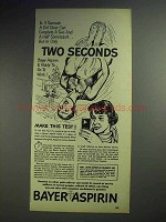 1951 Bayer Aspirin Ad - Two Seconds!