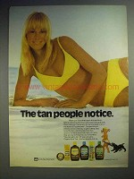 1973 Coppertone Suntan Lotion Ad - Tan People Notice