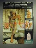 1977 Johnson's Baby Lotion Ad - Use in Grown-up Ways