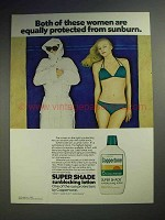 1980 Coppertone Super Shade Sunblocking Lotion Ad