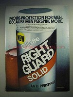 1981 Gillette Right Guard Solid Deodorant Ad