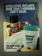 1983 Mennen Speed Stick Deodorant Ad - Outlasts