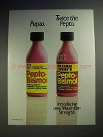 1988 Pepto-Bismol Maximum Strength Ad - Twice the Pepto