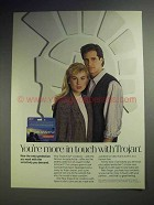 1990 Trojan Condom Ad - You're More In Touch With