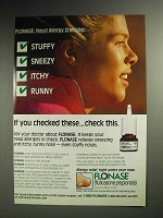 1997 GlaxoSmithKline Flonase Allergy Spray Advertisement!