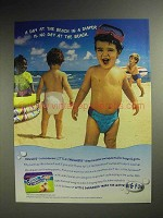 1998 Huggies Little Swimmers Diapers Ad - Day at Beach