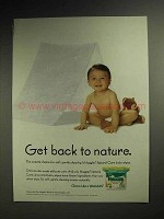 1998 Huggies Natural Care Baby Wipes Ad - To Nature