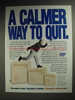 1998 NicoDerm CQ Nicotine Patch Ad - Calmer Way to Quit
