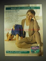 1998 Playtex Silk Glide Tampon Ad - When Life Changes
