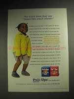 2001 Huggies Pull-Ups Training Pants Ad - Small Bladder