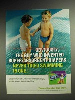 2001 Huggies Little Swimmers Diapers Ad - Swimming